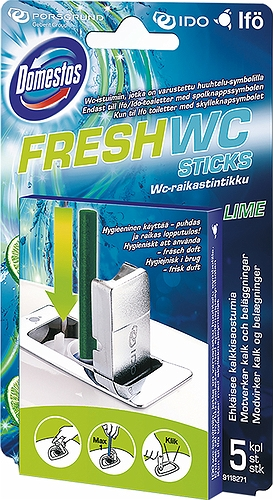 Ifö Fresh WC-sticks lime.  5 stk. pr. æske